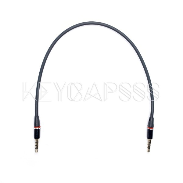 TRRS Cable 4-pole 3.5mm jack 30cm black