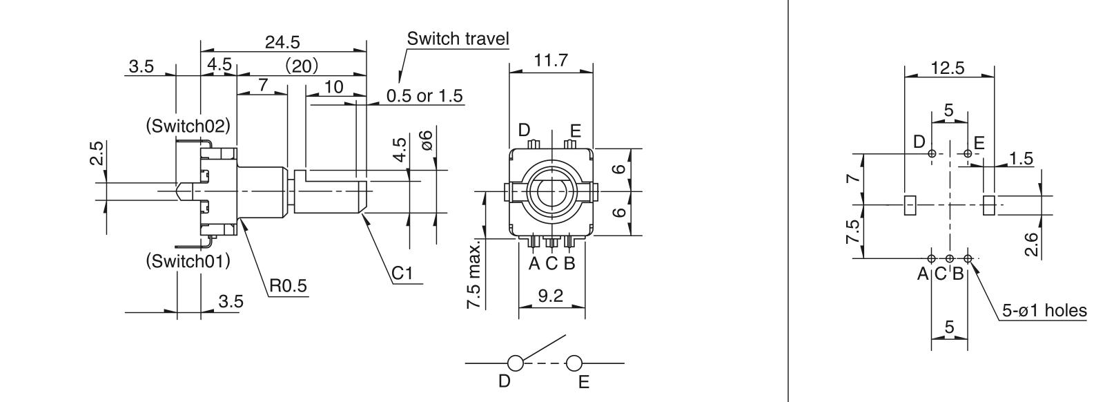 ec11e-dimensions