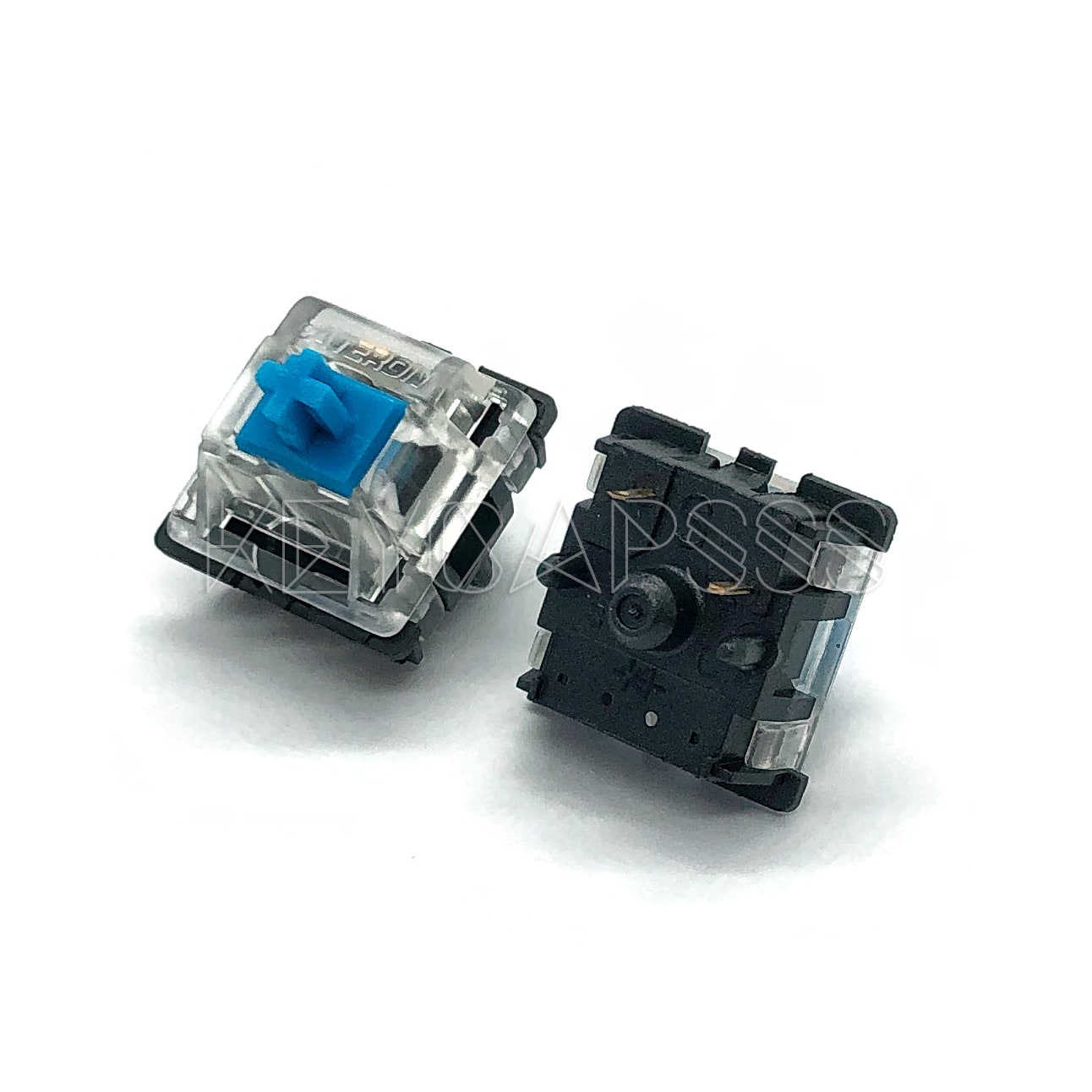 BHY 5Pin Gateron Black Switch Clear Keycap Button with Keychain for Mechanical Keyboard
