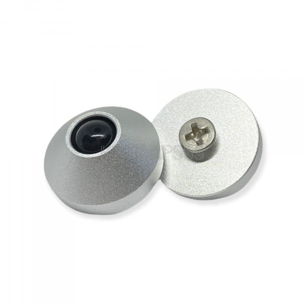 Anodized CNC Aluminum Cone Feet for Mechanical Keyboards Silver