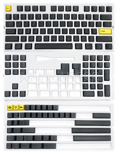 Cherry Black dye-sublimated keycap set PBT 151 keys