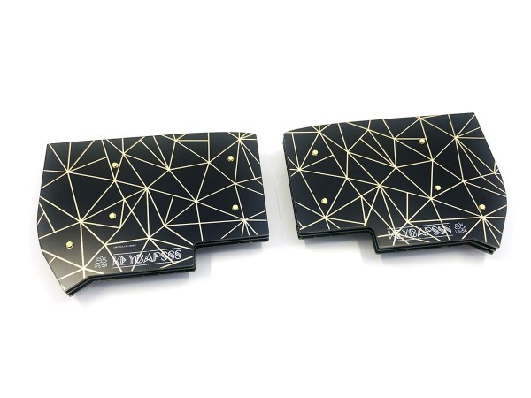 Lily58 PCB Plate Case Triangle Edition Gold/Black