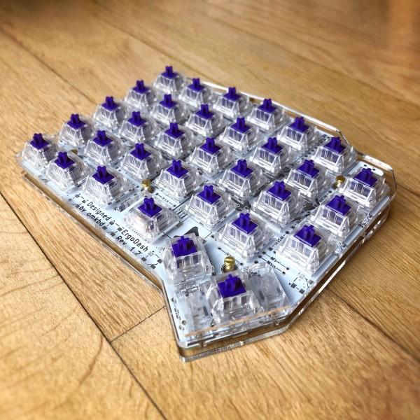 ErgoDash Acrylic Plate Case Split Keyboard
