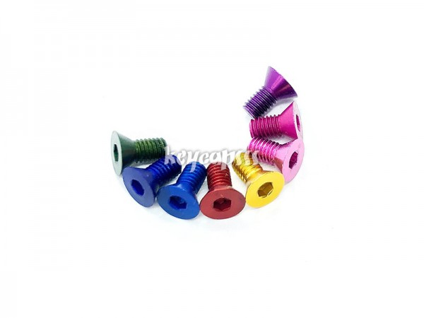 M3 Aluminium Screw 6mm anodized countersink aluminium eloxiert