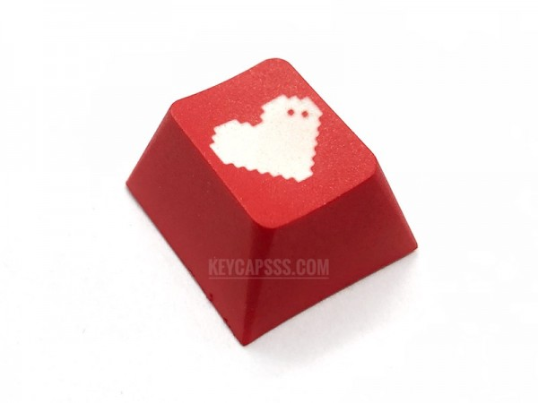 Pixel Heart - MX R4, Cherry, PBT Mechanical Keyboard Keycap