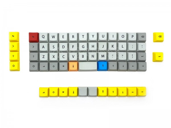 XDA Dye Sub Keycap Set for 40% Ortholinear Keyboards Grey