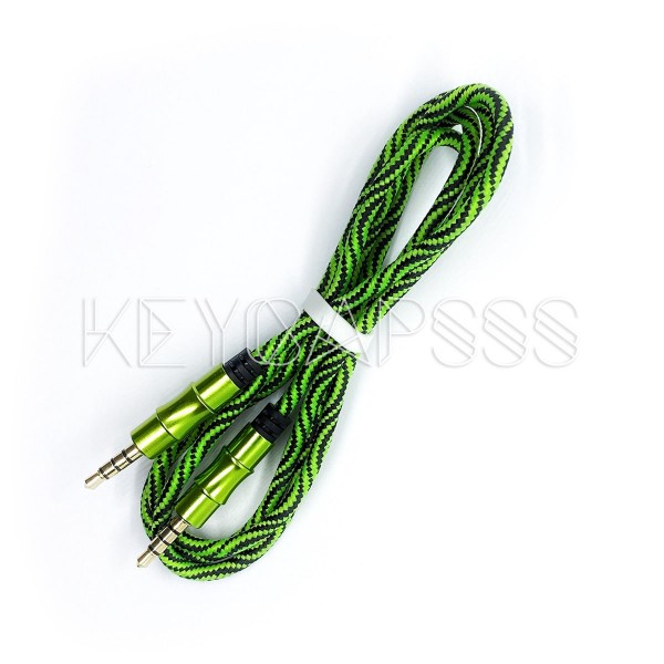 TRRS Cable 4-pole 3.5mm jack 100cm green