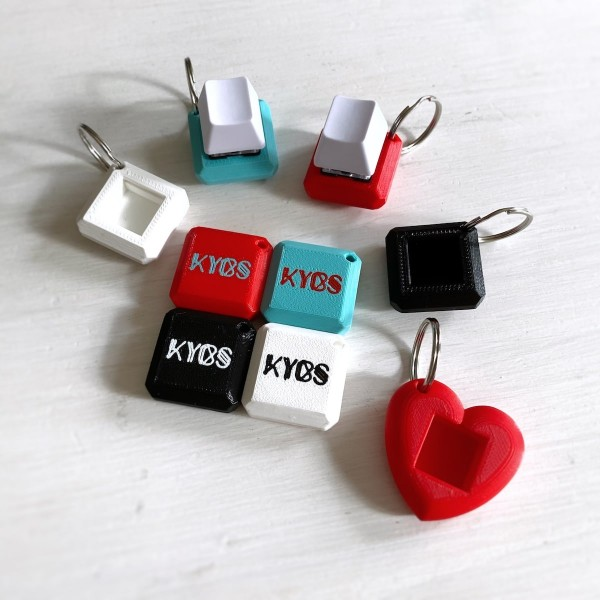Mechanical Keyboard Switch Keychain Heart