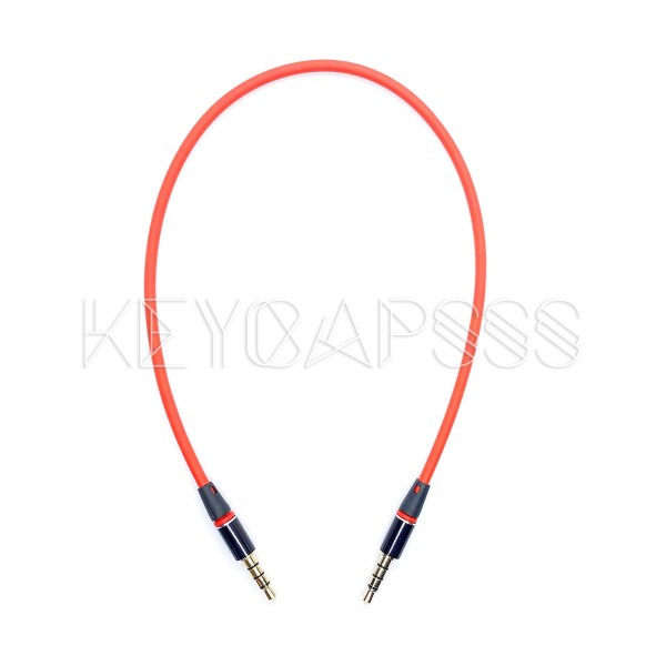 TRRS Cable 4-pole 3.5mm jack 30cm red