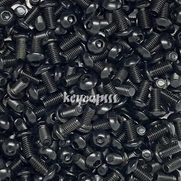 M3 x 6mm m3x6 black stainless screw schraube schwarz hexagon