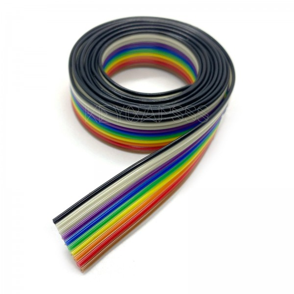 Flat Ribbon Cable Wire 1.27mm Pitch Rainbow Color