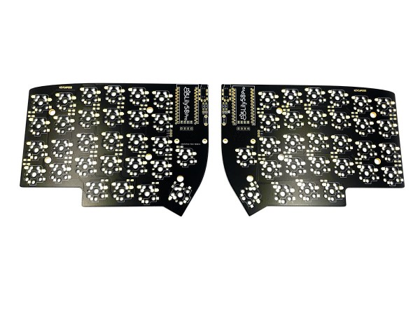 Lily58 Pro Split Keyboard PCB Kailh Hot Swap Sockets MX Choc Black Gold