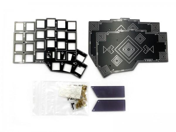 CRKBD PCB Plate Case Black/Silver
