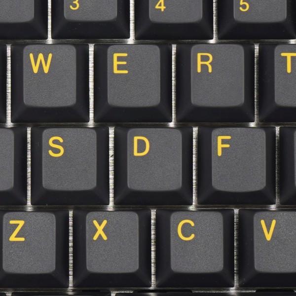 ENJOYPBT ABS Doubleshot Keycap Set Black/Yellow