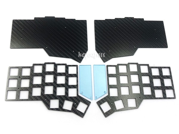 Corne Split Keyboard (crkbd) Carbon Plate Case