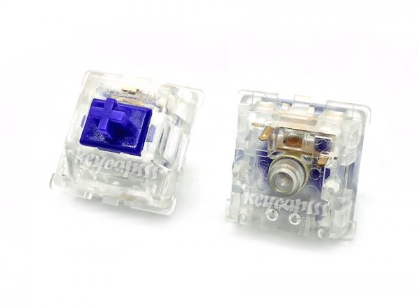 Zealio purple switch tactile keyboard transparent