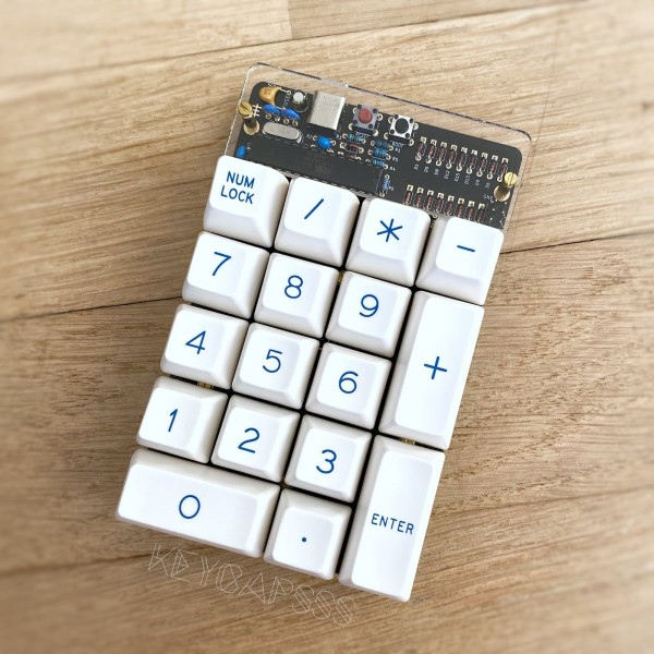 Discipad Numpad Kit Macropad with through hole parts and USB-C