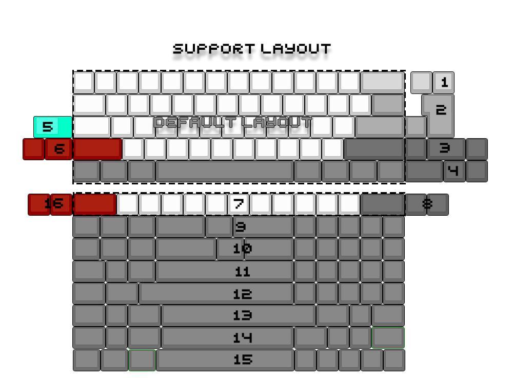 dz60-keyboard-pcb-layut