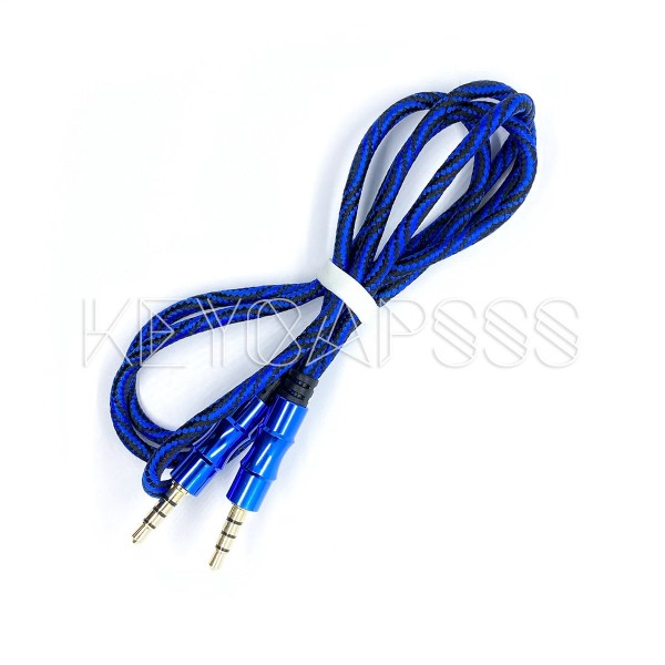 TRRS Cable 4-pole 3.5mm jack 100cm blue