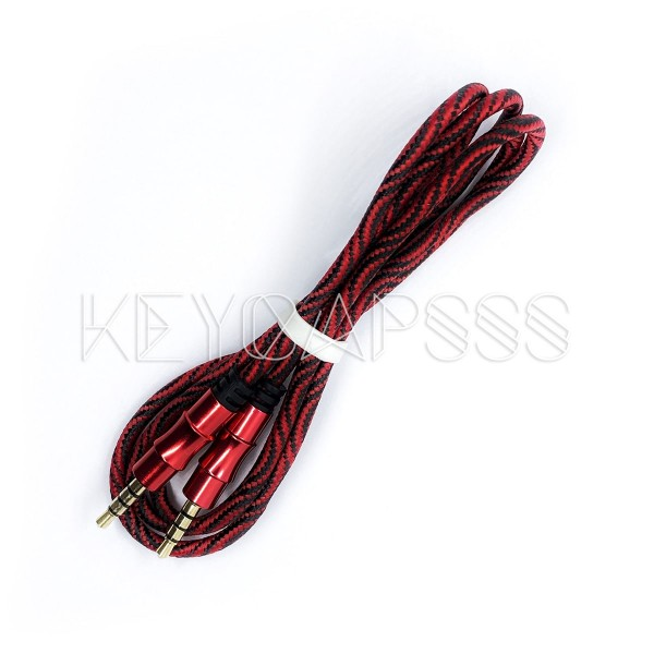 TRRS Cable 4-pole 3.5mm jack 100cm red